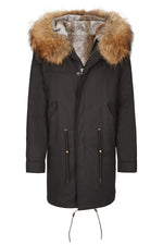 Maxi Parka Black Natural