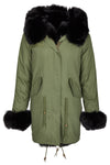 Nova Fox Parka Olive Black