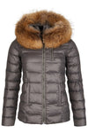 Victory Slim Down Jacket Short Grey