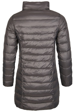 Victory Slim Down Coat Long Grey