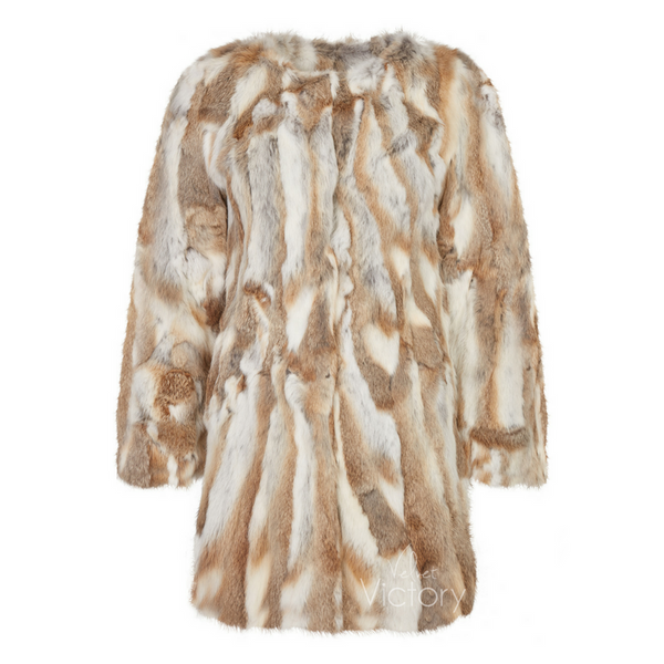 Fur Coat 'Ruby' Natural
