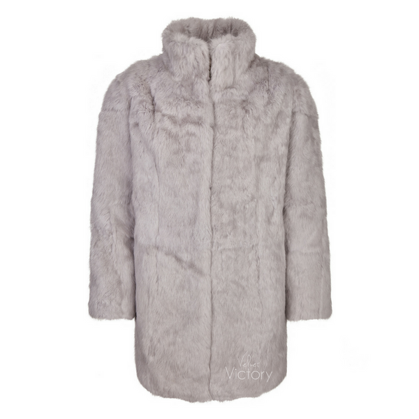 Fur Coat Collar 'Riley' Grey