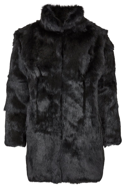 Fur Coat Collar 'Riley' Black