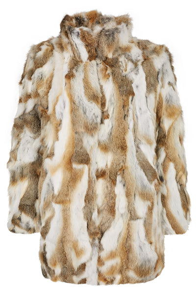 Fur Coat Collar 'Riley' Natural Brown