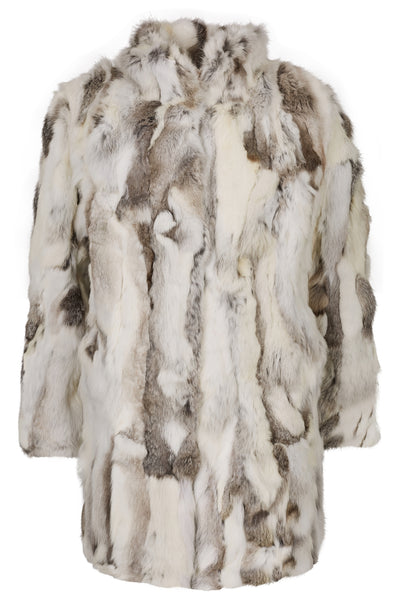 Fur Coat Collar 'Riley' Natural Grey