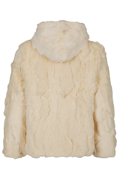 Fur Hooded Jacket 'Rachel' Beige