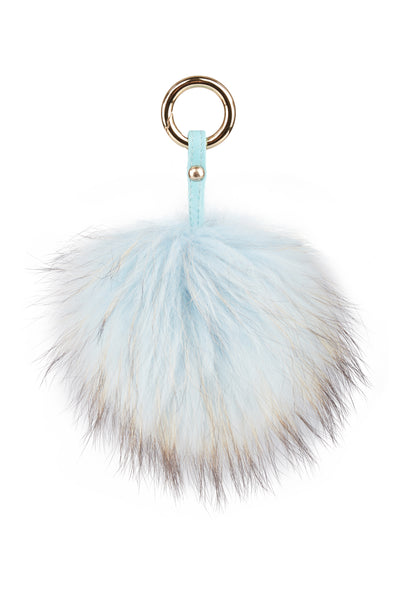 Luxury Fox PomPom Sky Blue