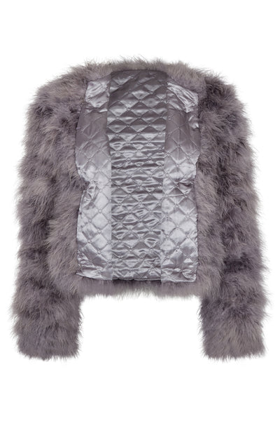 Ostrich Jacket Short Grey