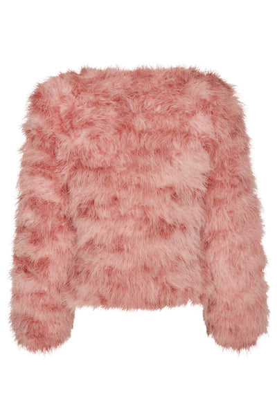 Ostrich Jacket Short Dusty Rose