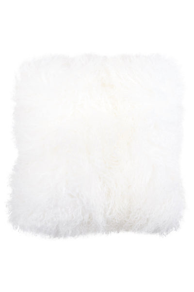 Mongolian Lamb Pillow Cover White