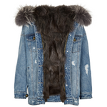 Demi Blue Jeans Jacket Fox-Dark Grey
