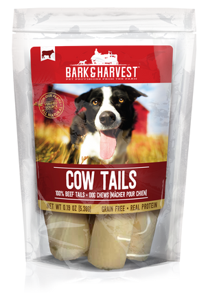Bark and Harvest Cow Tails 9 count bag