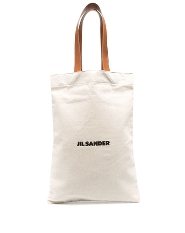 logo-print canvas shopper tote