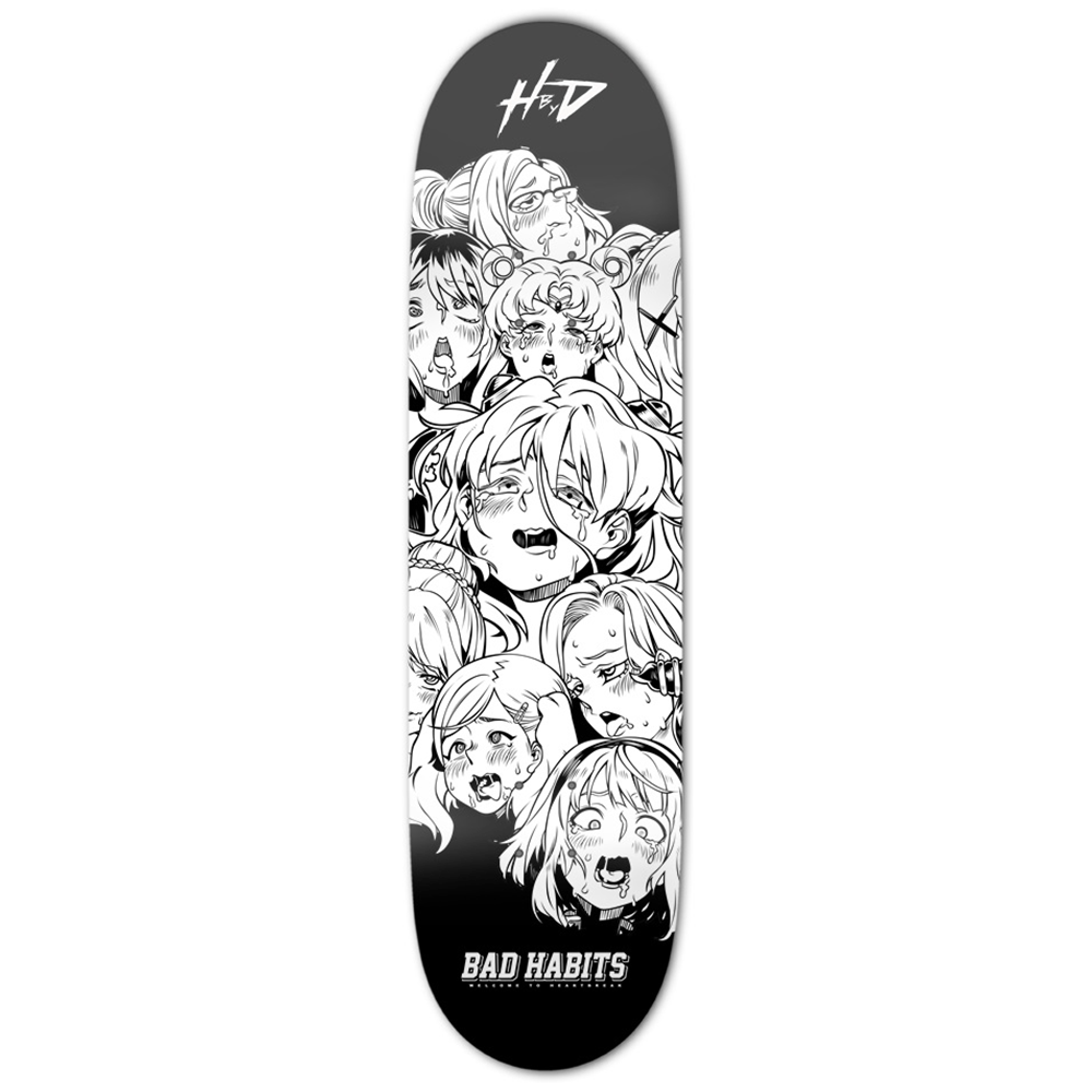 Ahegao Skateboard Deck - Heroes by Design