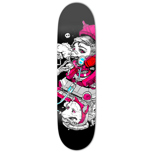 Cyborg Pink Skateboard Deck - Heroes by Design