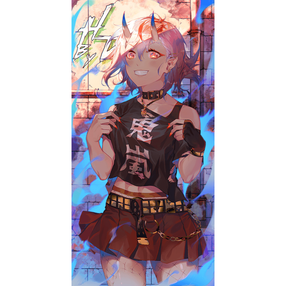 Onika-chan Oni Variant Wall Scroll - Heroes by Design