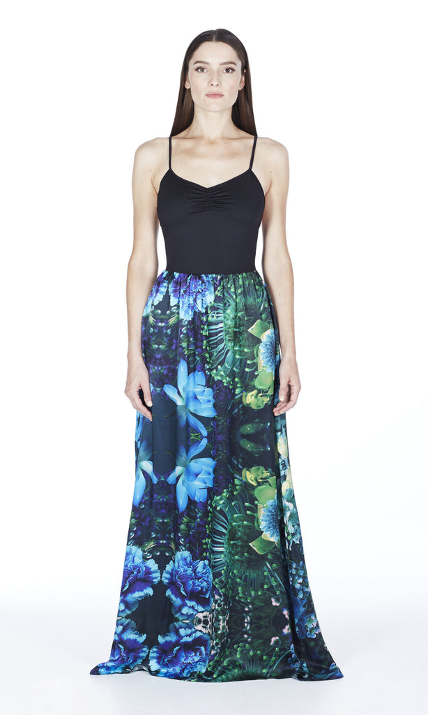 Eden Silk Maxi Dress in Island