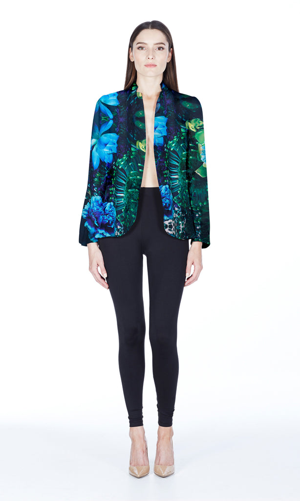 Suiting Silk Blazer in Island