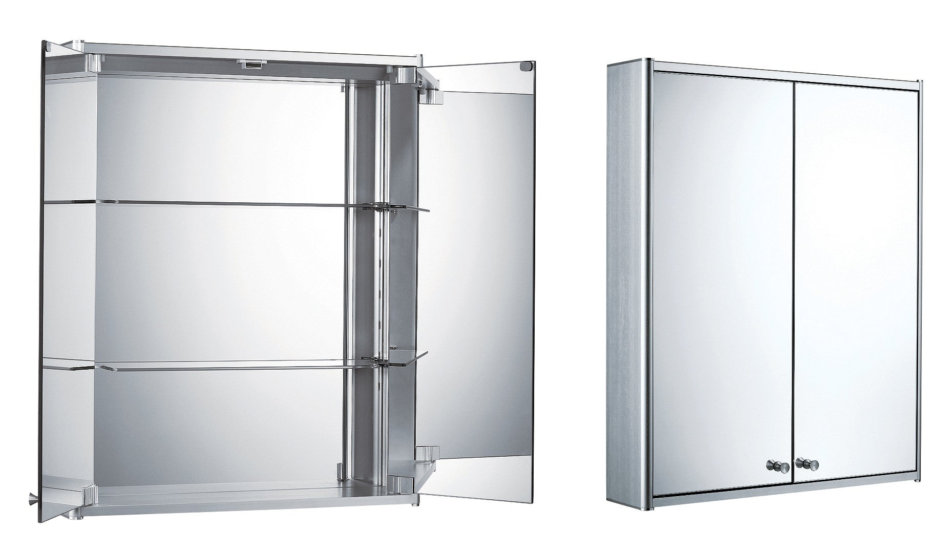 Double Mirrored Bathroom Cabinet Mirror Cabinets The Vanity Superstore