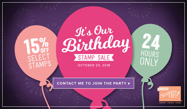 Celebrate Stampin' Up!'s 30th Birthday with a ONE DAY ONLY SALE!