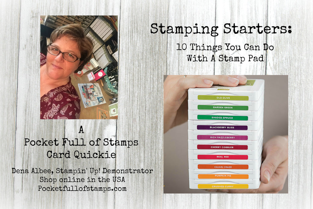 Simple Sunday - 10 Things You Can Do With A Stamp Pad VIDEO!