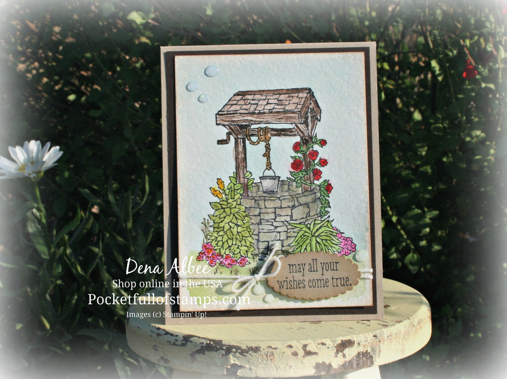 Watercolor Wishing Well