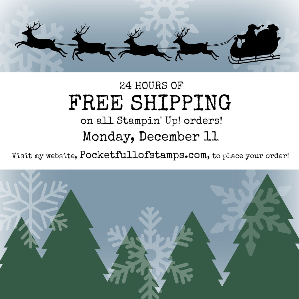 24 Hours of FREE SHIPPING (Monday, December 11 only!)