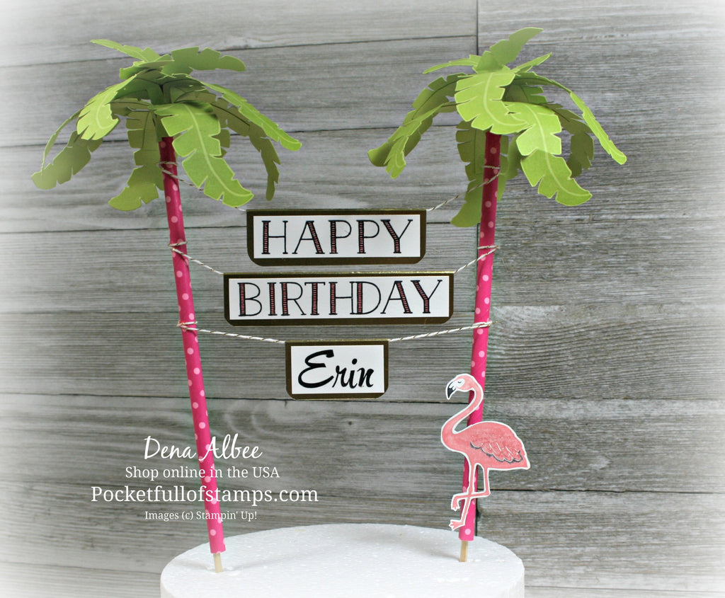 A Pop of Paradise Cake Topper