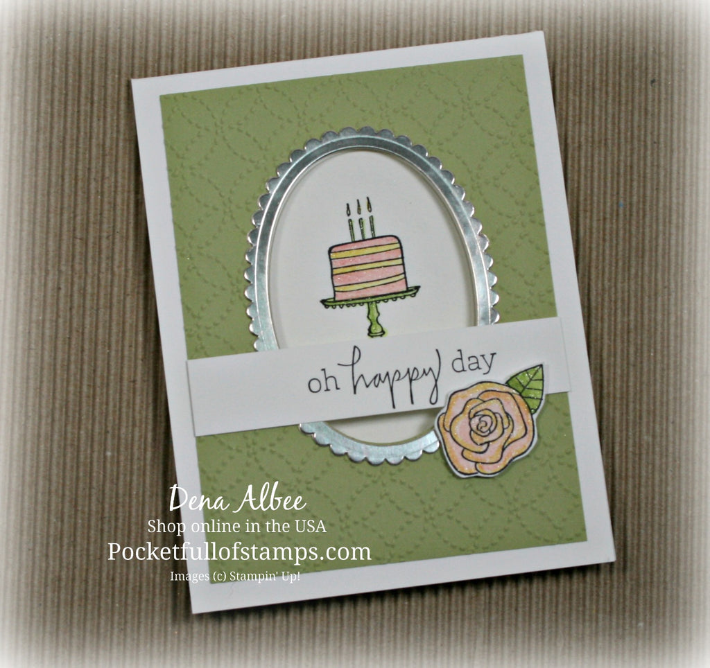 Oh Happy Day - Framed Window Card With Video Tutorial