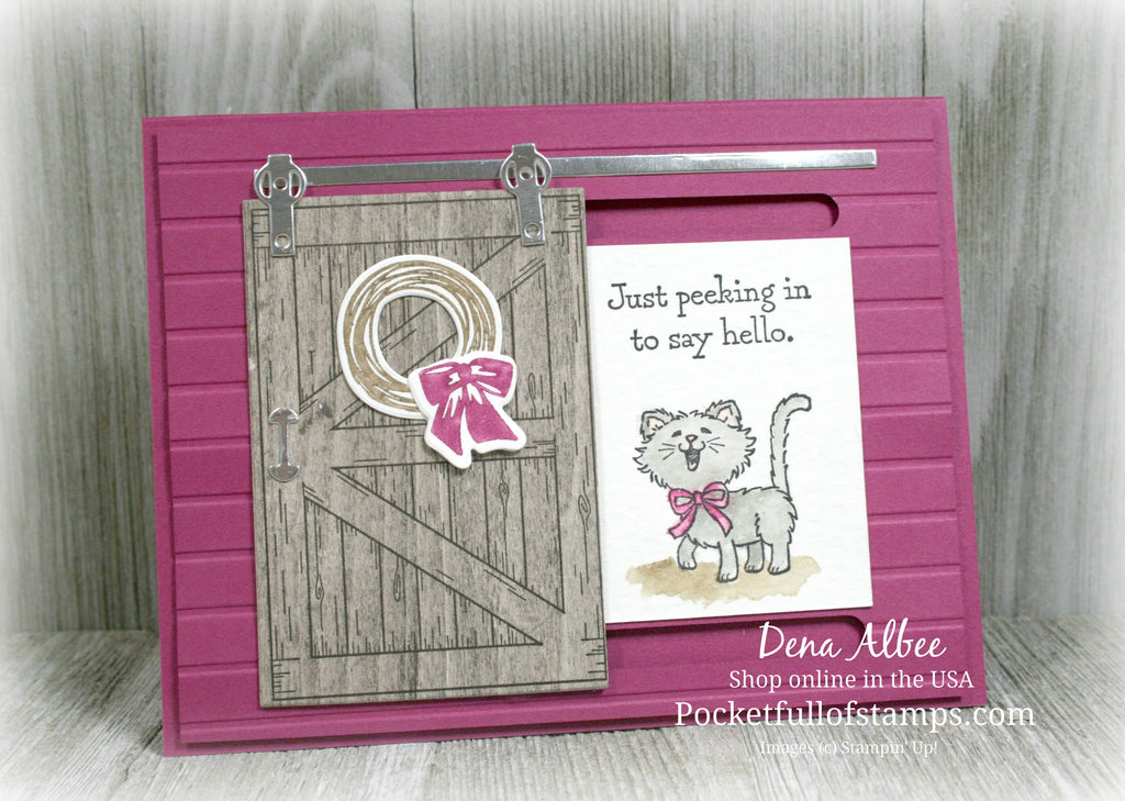 Using the Barn Door Stamp Set with Video Tutorial!