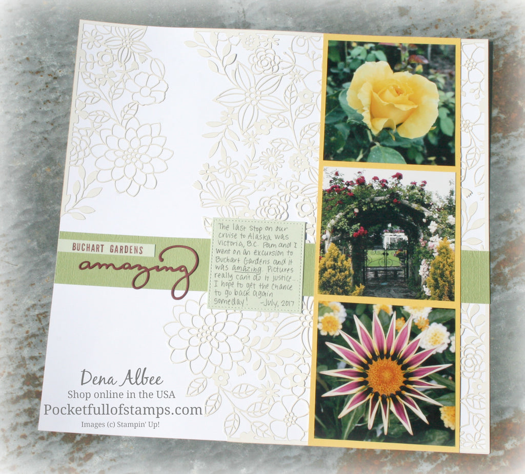 Buchart Gardens for the Scrapbook Sunday Blog Hop