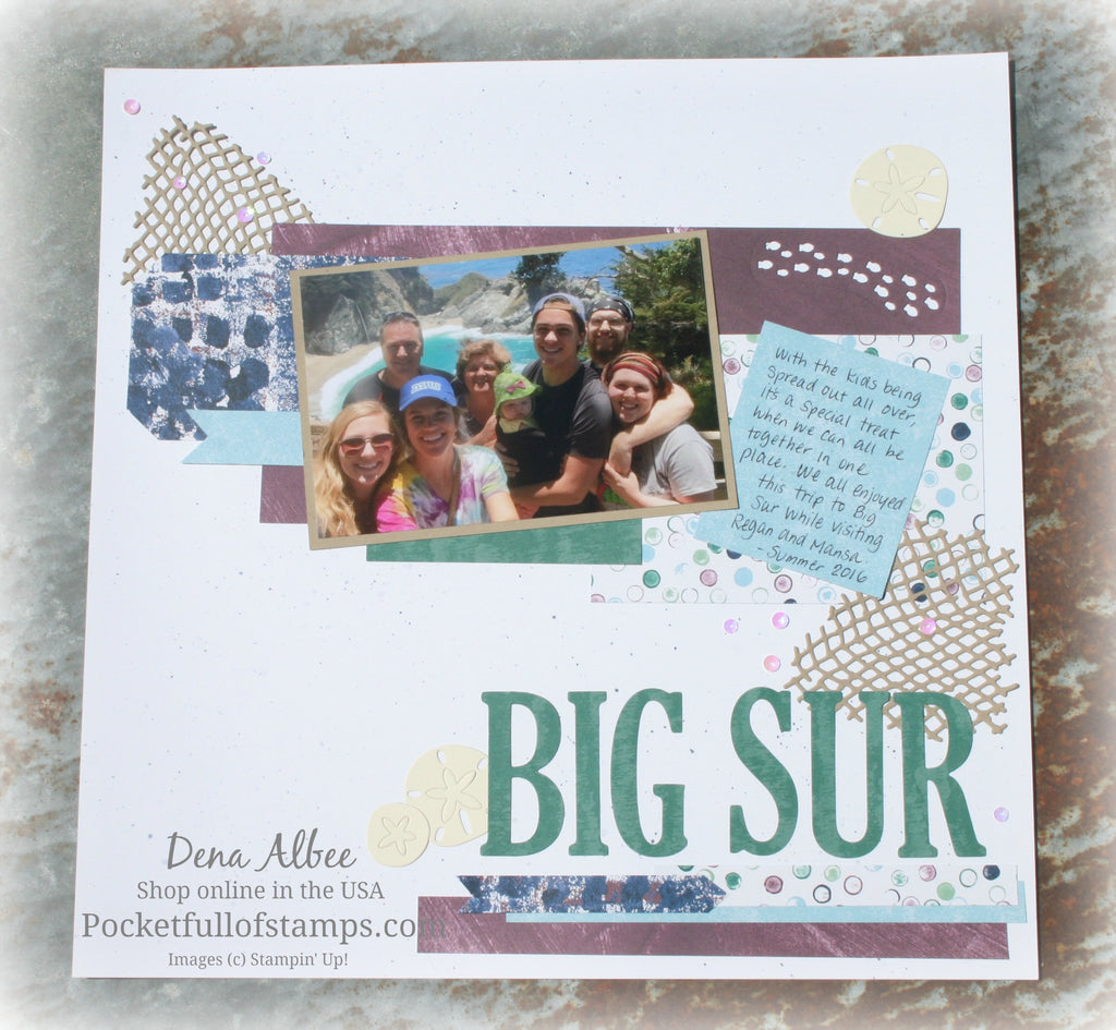 Big Sur for the Scrapbook Sunday Blog Hop