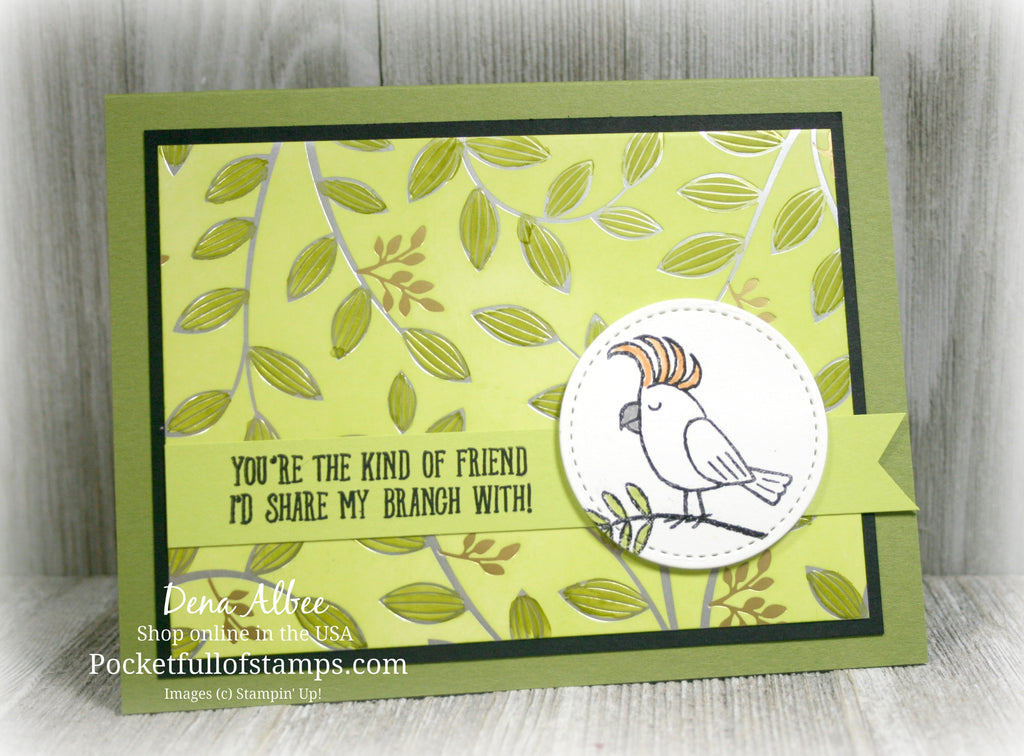Simple Sunday - Quick and Easy with Bird Banter and Springtime Foils DSP