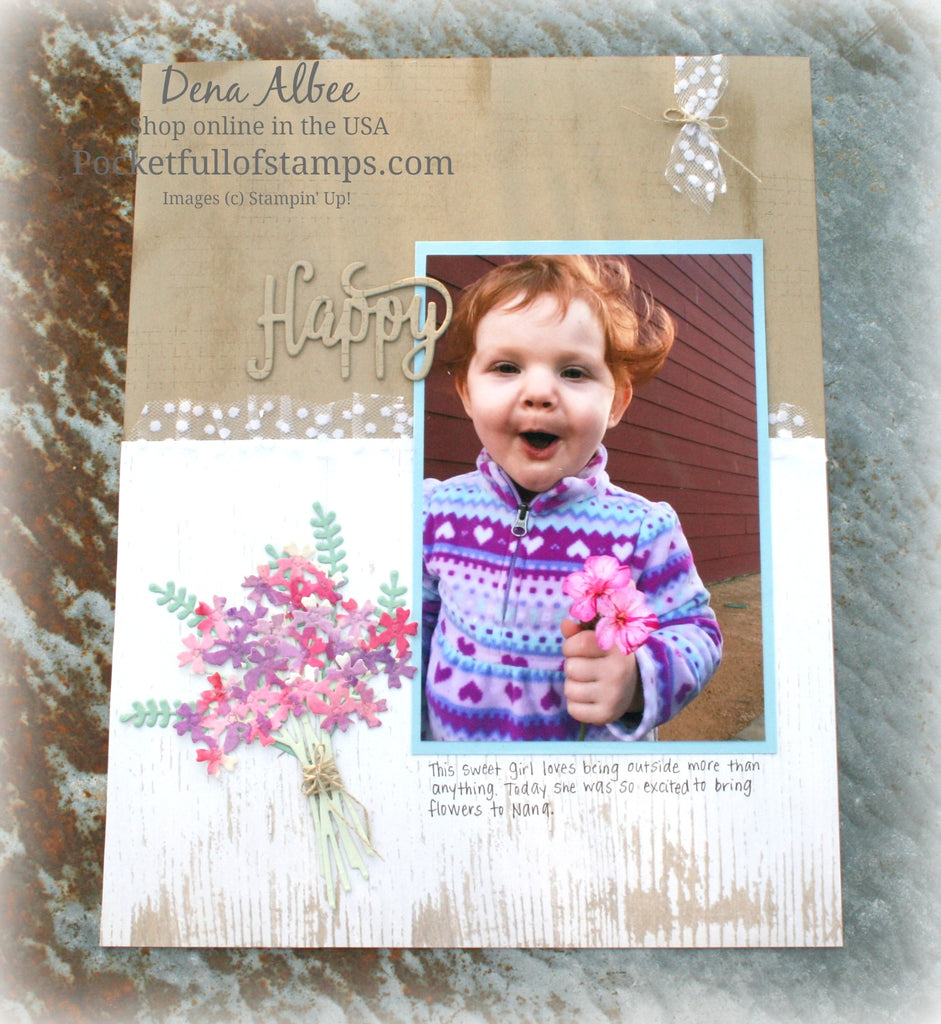 A Happy Bouquet for the Scrapbook Sunday Blog Hop