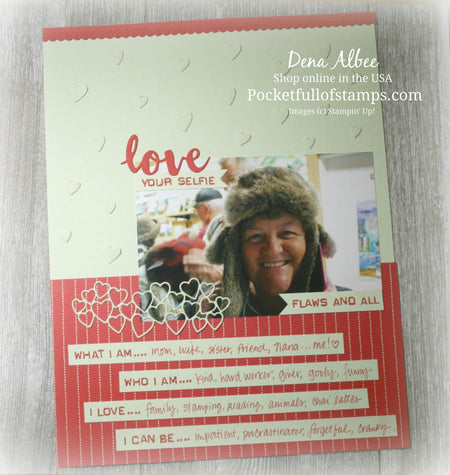 Love Your Selfie for the Scrapbook Sunday Blog Hop