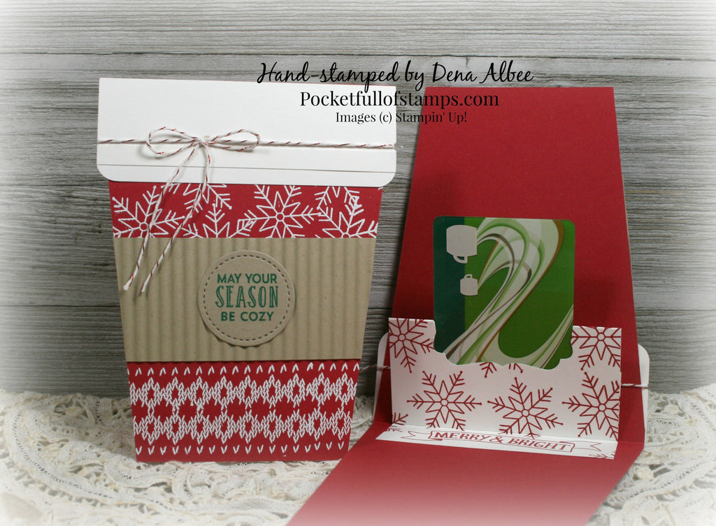 23 Days 'til Christmas - Coffee Gift Card Holder Card