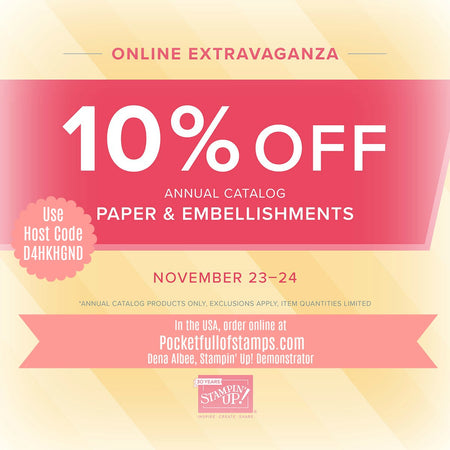 Stampin' Up! Online Extravaganza Starts TODAY!
