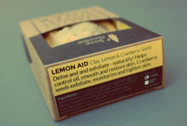 Lemon Aid Soap with Cranberry Seeds