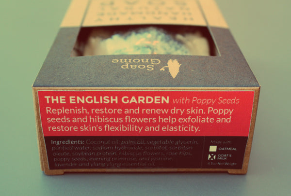 English Garden with Poppy Seeds + Goat's Milk