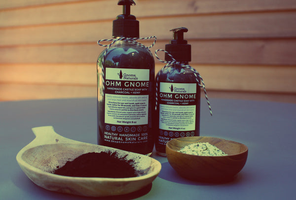 Castile Soap with Charcoal + Hemp Seed Oil