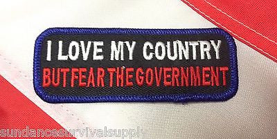 Morale i fear my government patch survival tactical gear military gift fun #442 - Sundance Survival Supply