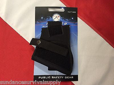 Ankle Holster black survival emergency tactical military black Rothco denier - Sundance Survival Supply