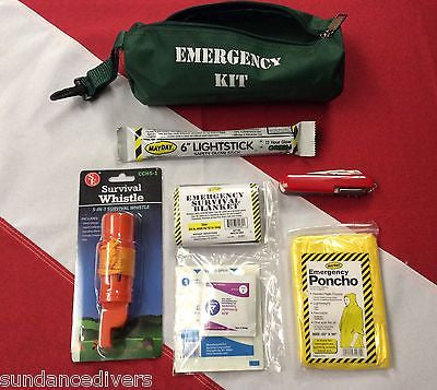 14pc small roll bag kit emergency tactical disaster survival bug outbag MAYDAY - Sundance Survival Supply