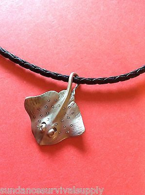 "Manta Ray 18"" necklace pewter scuba diving gifts equipment surfing novelty fun - Sundance Survival Supply"