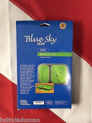 Flexware Mess kit lime 2.0 emergency disaster prepper camping hiking blue sky - Sundance Survival Supply