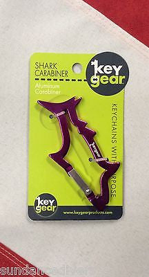 Key Gear shark carabiner key chain emergency preparadness disaster equipment fun - Sundance Survival Supply