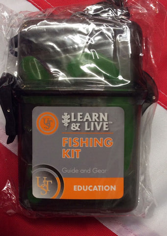 Fishing Kit cards & Kit learn&live survival gear emergency disaster tactical UST - Sundance Survival Supply