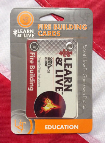 Fire Building cards pocket guide learn&live emergency disaster tactical  UST - Sundance Survival Supply