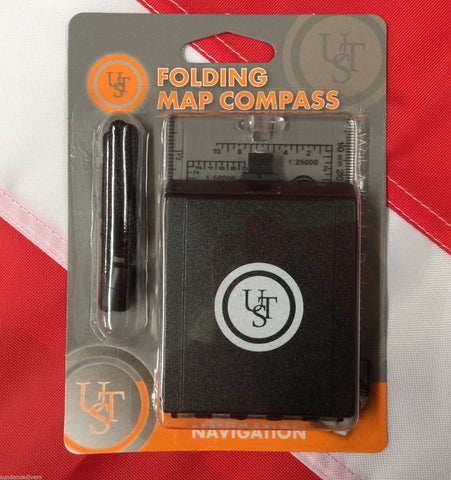 Folding Map Compass navigation emergency disaster tactical preparedness UST - Sundance Survival Supply