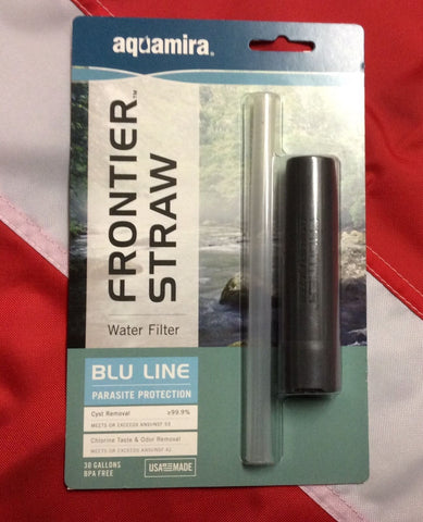 Aquamira frontier straw water filter emergency bug out survival tactical Rothco - Sundance Survival Supply